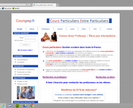 Page d'accueil Courspep